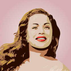 Hend Rostom fan art, vector portrait