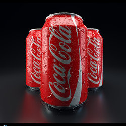 Digital Art - Cola Packshot