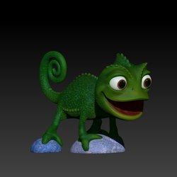 chameleon printable model