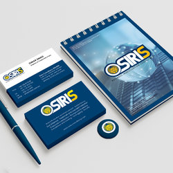 Osiris (Graphic design, Business card, Notebook, pen and tag design)