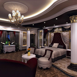 Luxurious master bedroom in Qatar