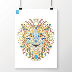 Lion Illustration Draw
