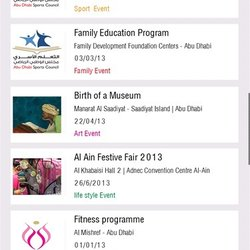 Abu Dhabi Events Application  -V2