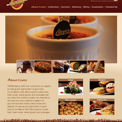 Crumz bakery web design