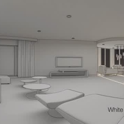 Composition - white card render