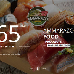 Ammarazo Food Products Coming soon page