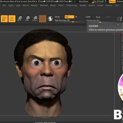 تصميم كارتوني ثلاثي الابعاد لرأس شخصية