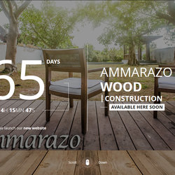 AMMARAZO Wood Construction Coming soon page