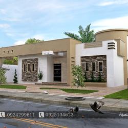 تصميم منزل ارضي مسقوف 180 متر