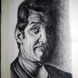 Dean Martin free hand drawing.