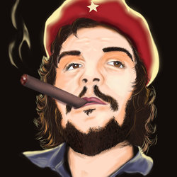 Che Guevara Digital painting t-shirt