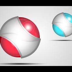 تصميم شعار مضيء بتقنية 3D