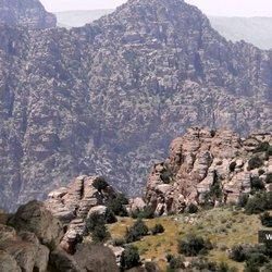 animated matte painting - dana nature reserve - jordan