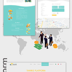 Tawrid Website Ui Design Infographic