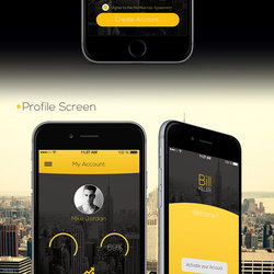 Bill Yellow IOS8 App UI Design