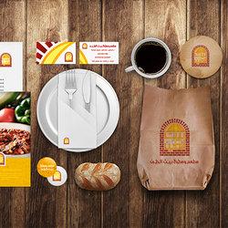 شعار وهوية مطعم ومطبخ بيت الطين
