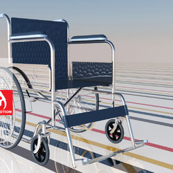 3D Disabled chair