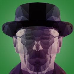The One Who Knocks- polygon portrait