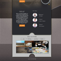 Layout 3 website by photoshop