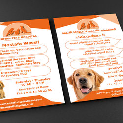 Flyer A5 German Pets  Hospital