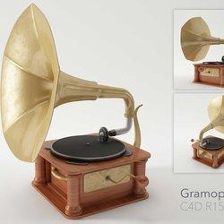 gramophone in 3D