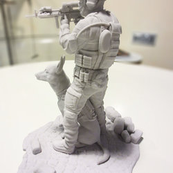 Soldier with Companion 3D Print