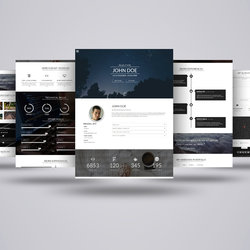 Marqa | one page personal portfolio HTML template