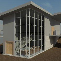 نموذج مبنى سكنى باستخدام الريفيت