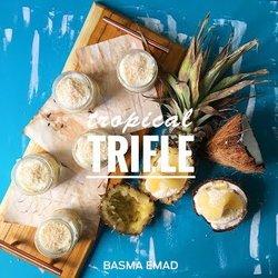 (Tropical Trifle Pineapple & Coconut) ترايفل الأناناس و جوز الهند