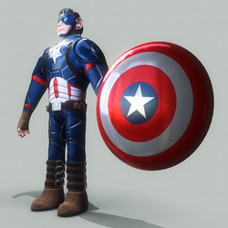 stylized character (captain america)
