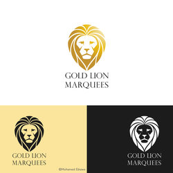 Gold Lion Marquees Logo