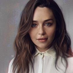 Emilia clarke realistic digital portrait