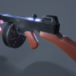 Low poly gun for gaming
