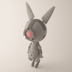 Little Bot Bunny 3D Model