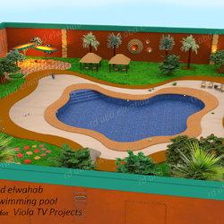 عمل حمام سباحة في بيت افريقي من مشاريع VIOLA TV
