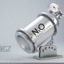 Nitrous Oxide System | 3D Modeling