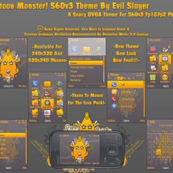 Cartoon Monster S60v3 Theme