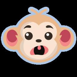 monkey flat design