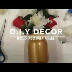 SUPER EASY D.I.Y DECOR - FLOWER VASE