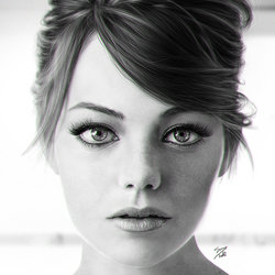 Emma stone Realistic digital portrait