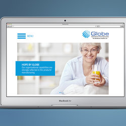 Globe Pharmaceuticals Egypt website redesign and development