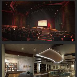 تصميم مسرح لاكادمية اعلامية بالاضافة الى تصميم المكتبة الخاصه بها