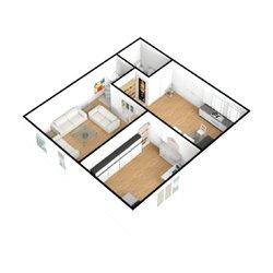 منزل بمساحة صغيرة وتصميم جميل