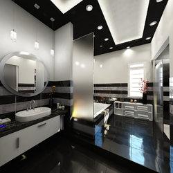 Black & white Bathroom Interior design - KSA