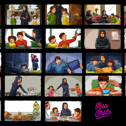 Colored Storyboard Ad