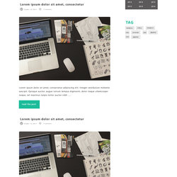 simple blog  تصميم لمدونة بتقنية الفلات ذات الوان هادئة وجميلة
