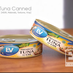 3D Tuna Canned Mockup
