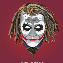 The Joker Vector Art using golden ratio