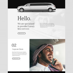 Ui/Ux website for Limo services