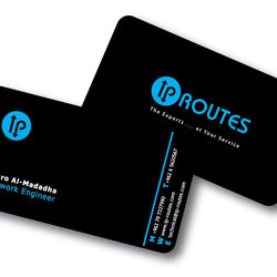 "2 - ""IP ROUTES"" Designing a logo & business card for network company."